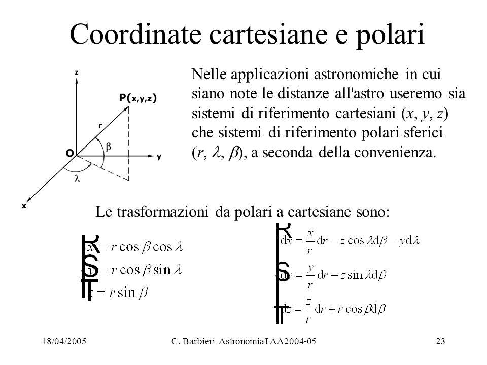 Coordinate cartesiane e polari