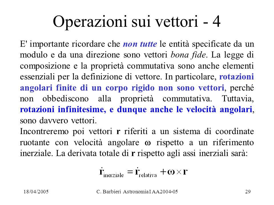 Operazioni sui vettori - 4