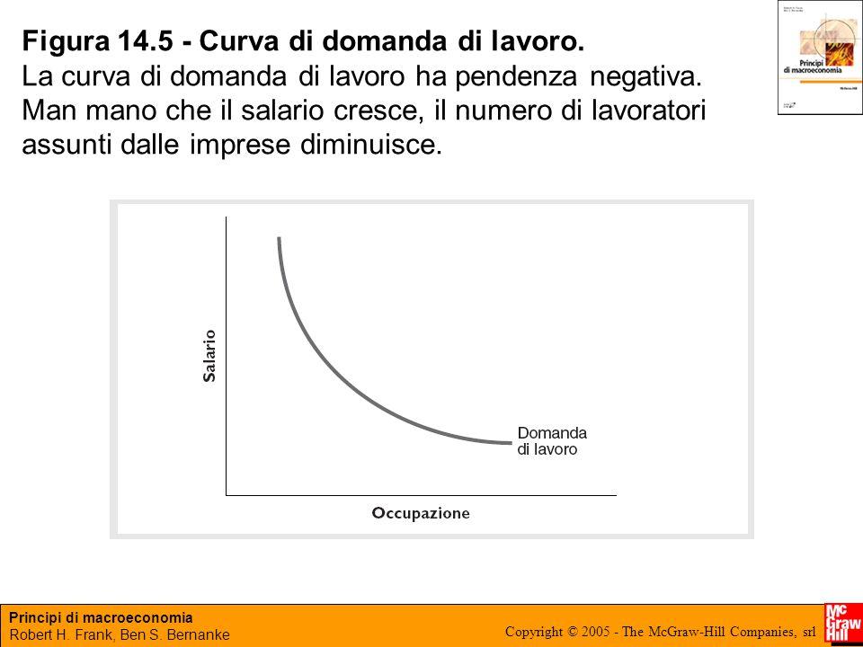 Figura 14.5 - Curva di domanda di lavoro.
