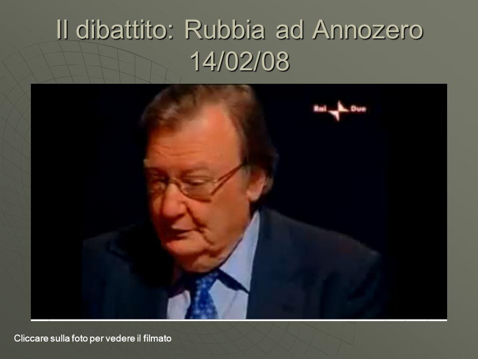 Il dibattito: Rubbia ad Annozero 14/02/08