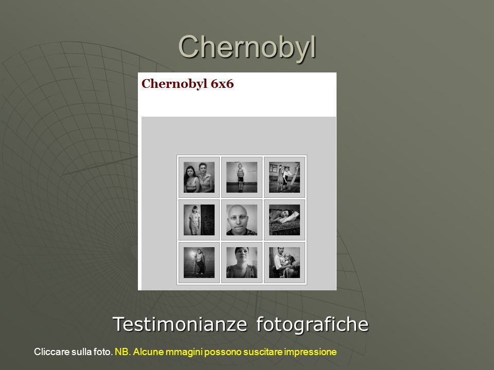 Testimonianze fotografiche