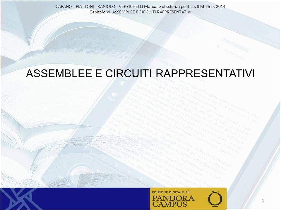 ASSEMBLEE E CIRCUITI RAPPRESENTATIVI