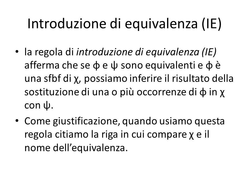Introduzione di equivalenza (IE)