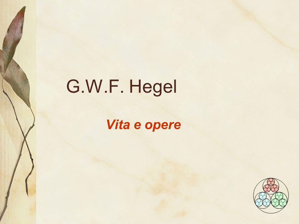 G.W.F. Hegel Vita e opere
