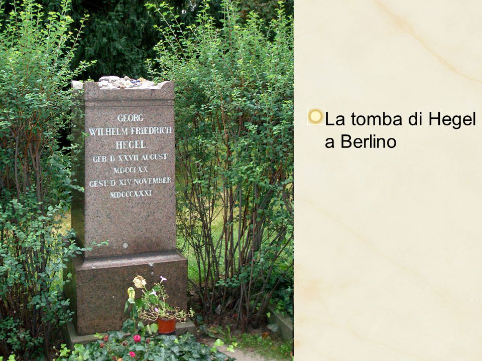 La tomba di Hegel a Berlino
