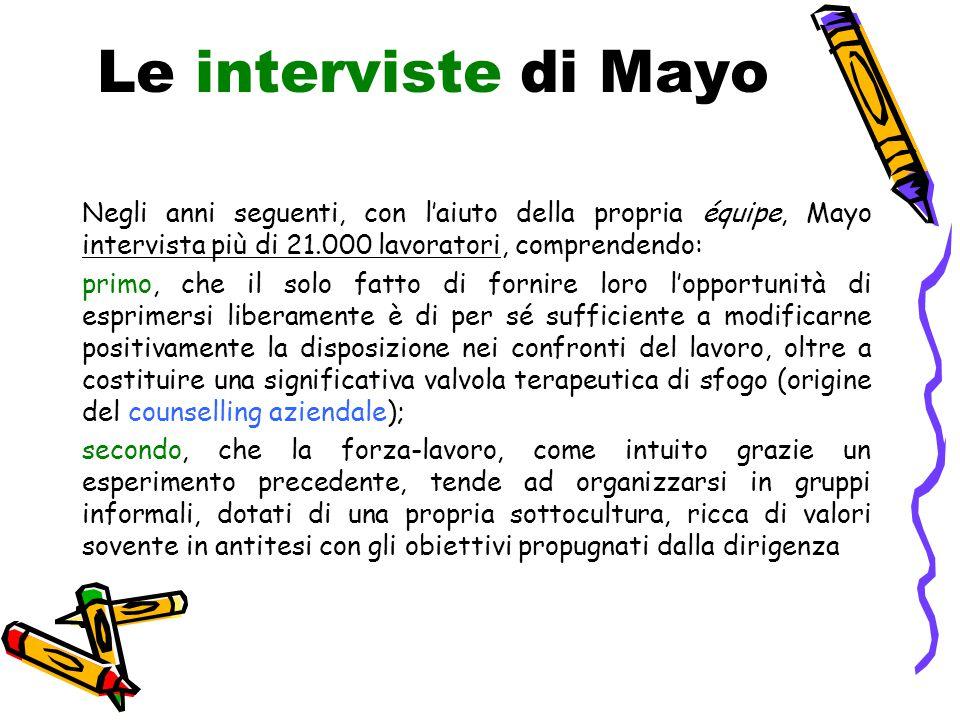 Le interviste di Mayo