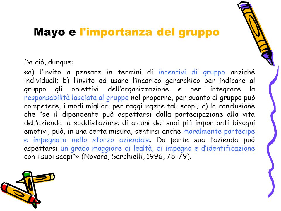 Mayo e l importanza del gruppo