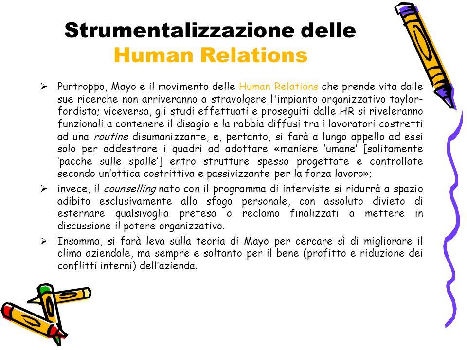 Strumentalizzazione delle Human Relations
