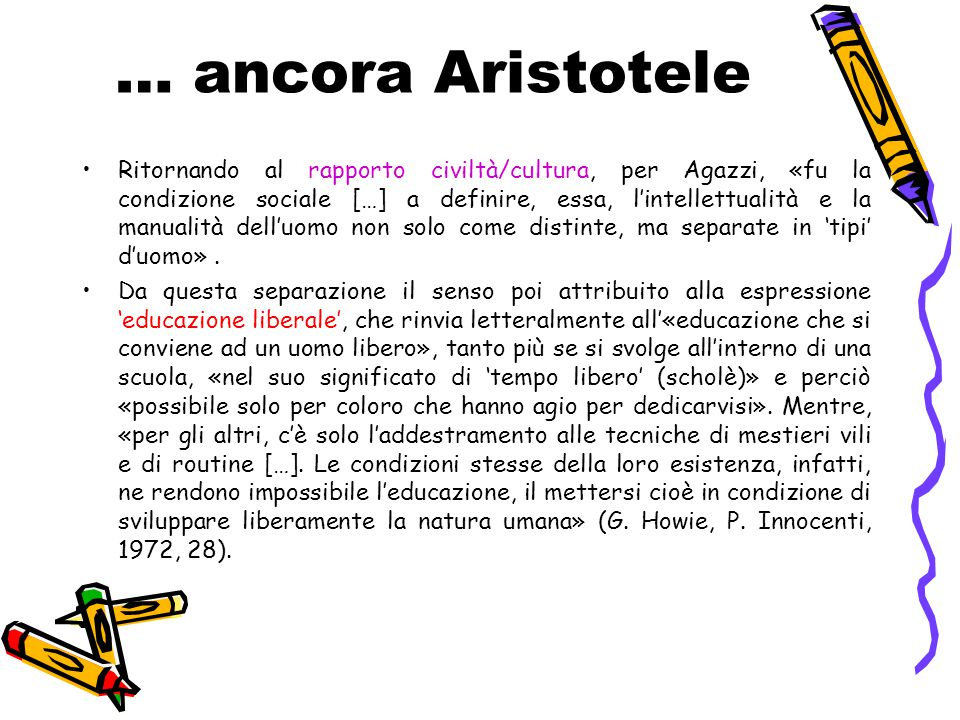 … ancora Aristotele