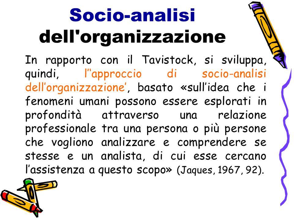 Socio-analisi dell organizzazione