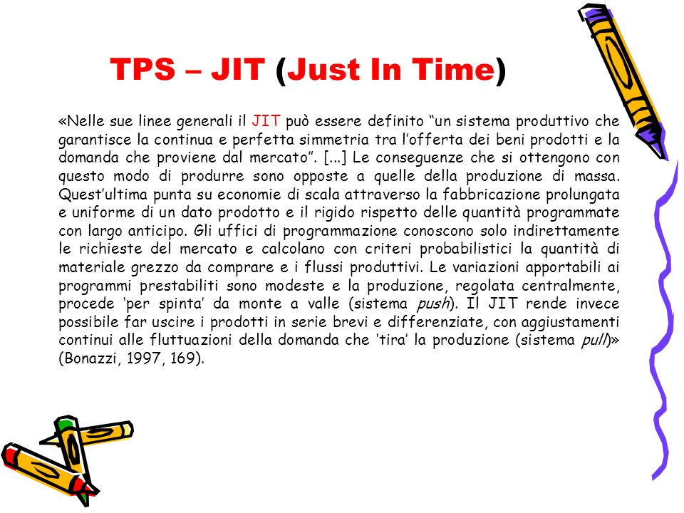 TPS – JIT (Just In Time)