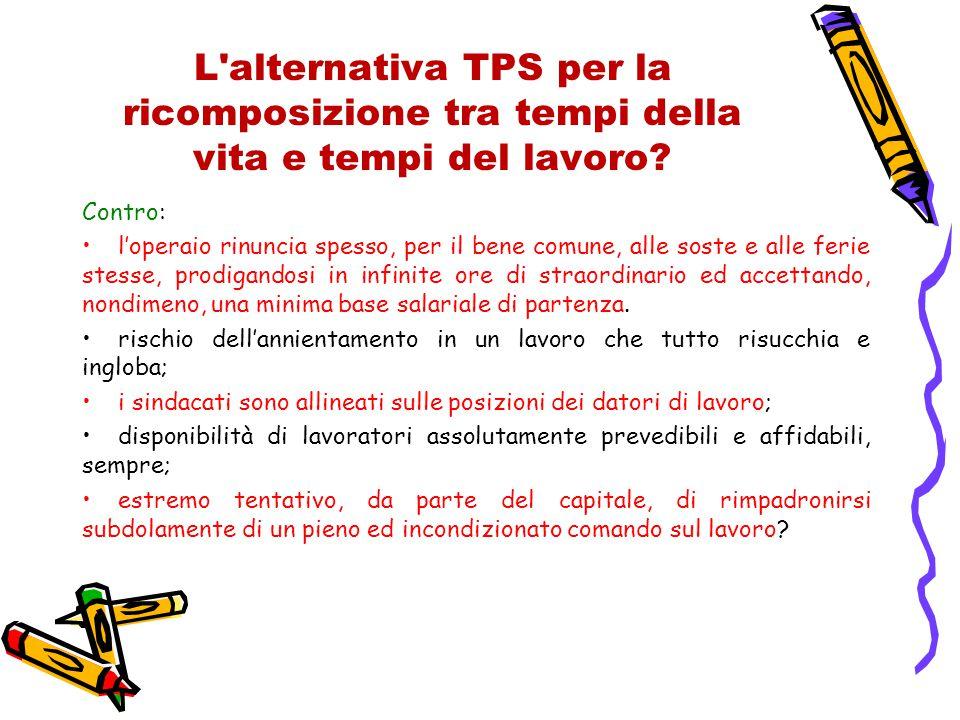 L alternativa TPS per la ricomposizione tra tempi della vita e tempi del lavoro