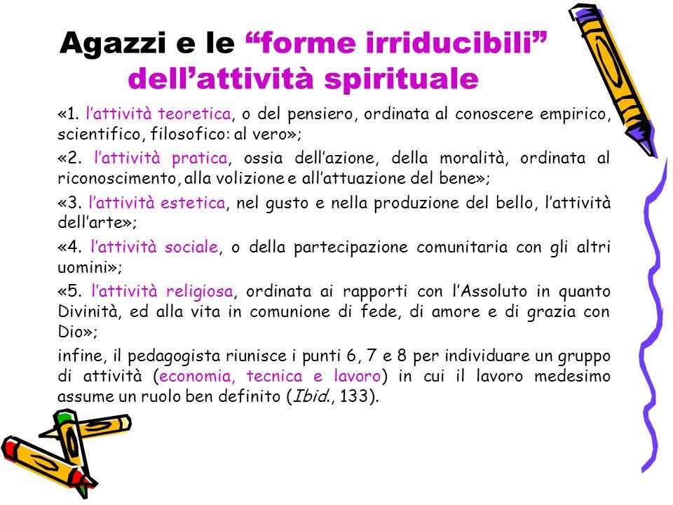 Agazzi e le forme irriducibili dell'attività spirituale