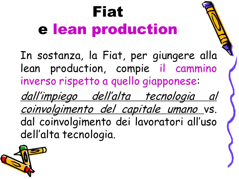 Fiat e lean production