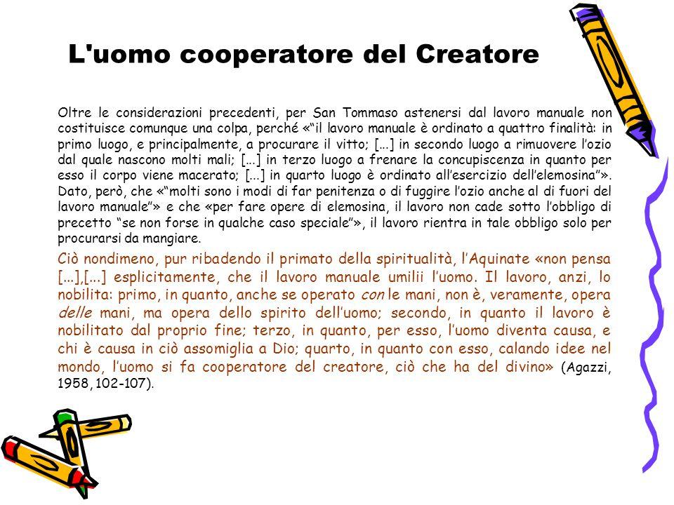 L uomo cooperatore del Creatore
