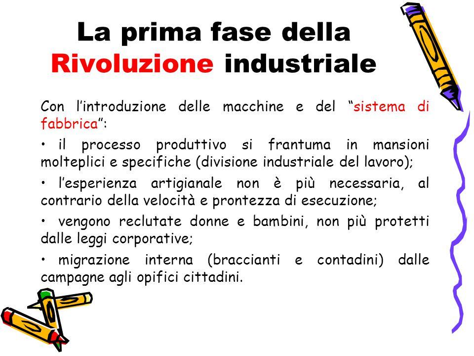 La prima fase della Rivoluzione industriale