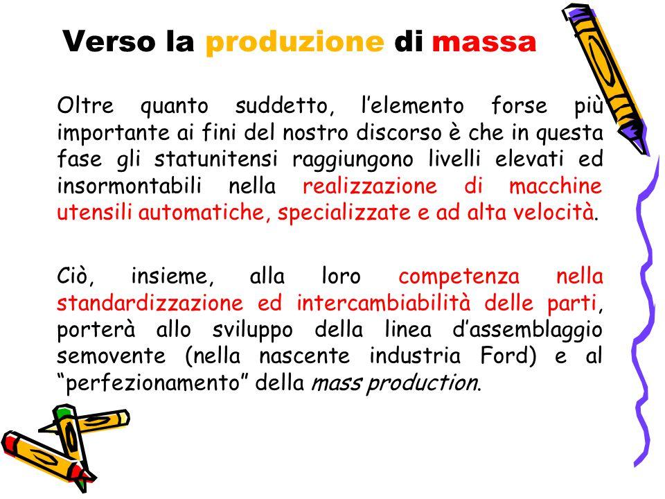 Verso la produzione di massa