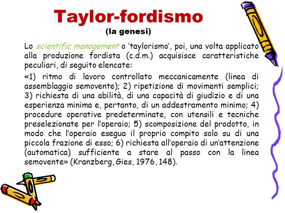 Taylor-fordismo (la genesi)