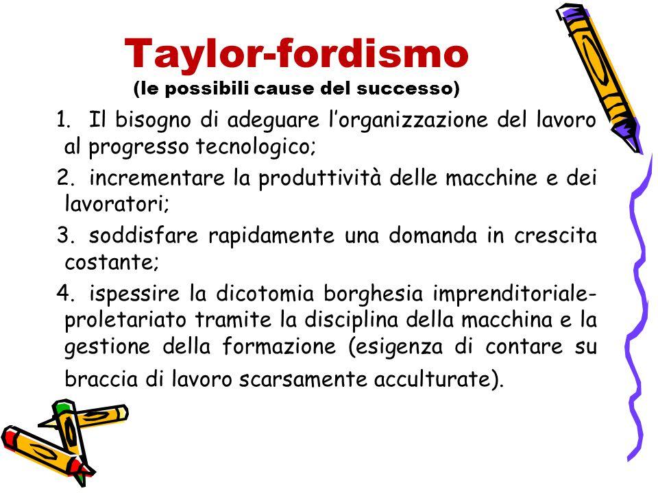 Taylor-fordismo (le possibili cause del successo)