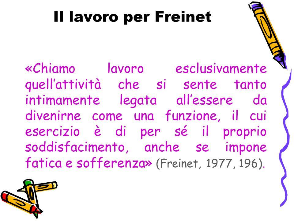 Il lavoro per Freinet