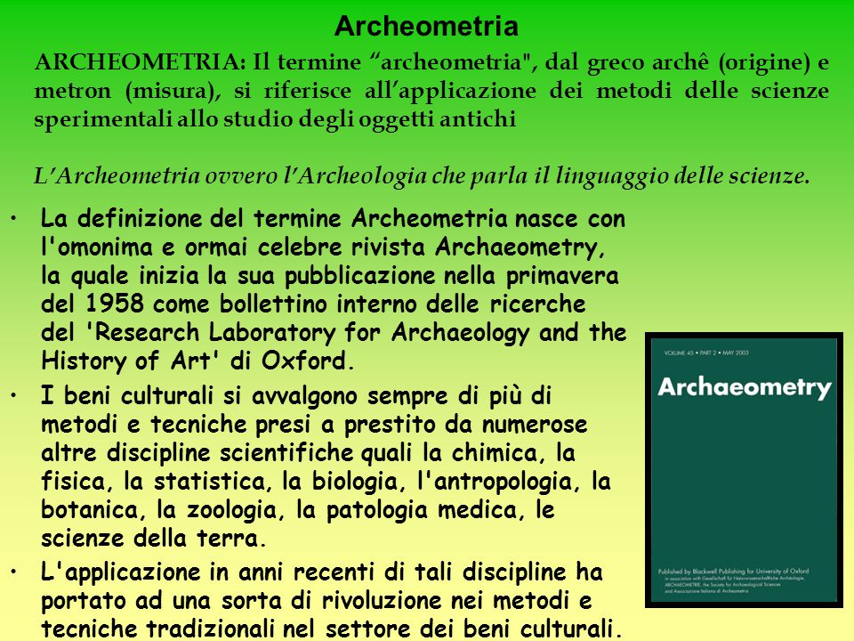 Archeometria