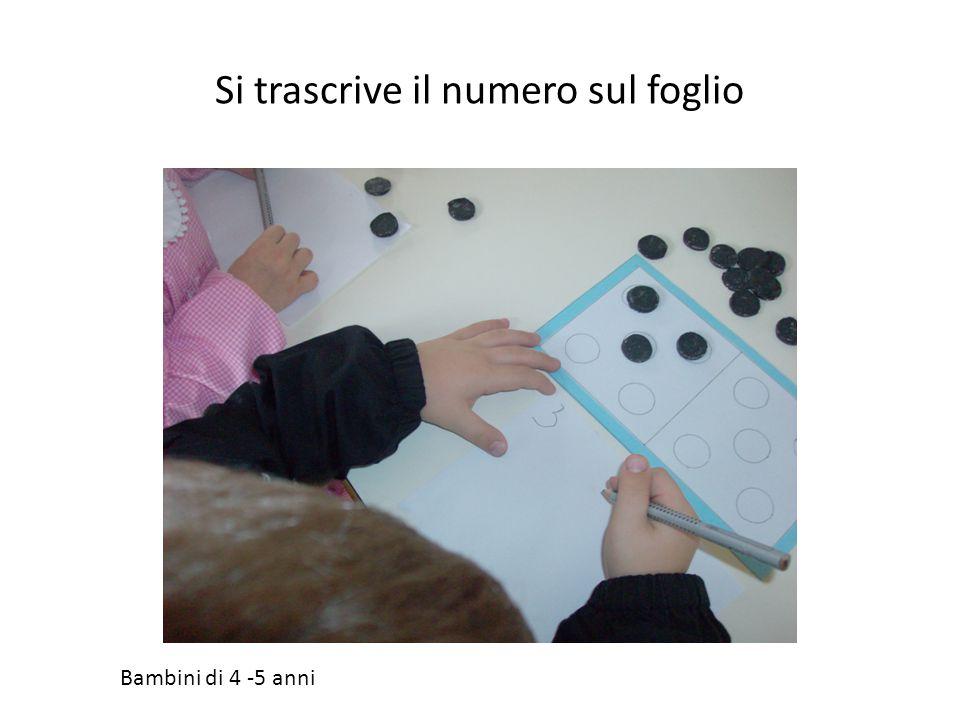 Si trascrive il numero sul foglio