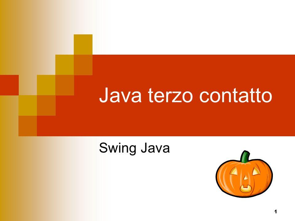 Java terzo contatto Swing Java