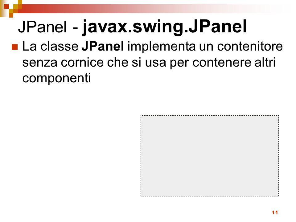 JPanel - javax.swing.JPanel