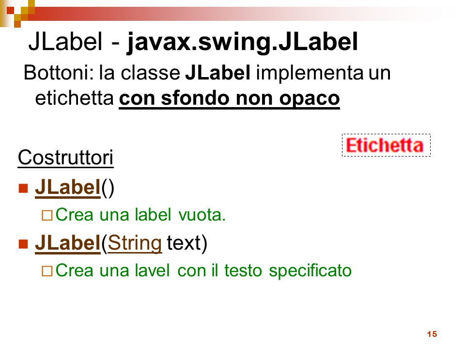 JLabel - javax.swing.JLabel