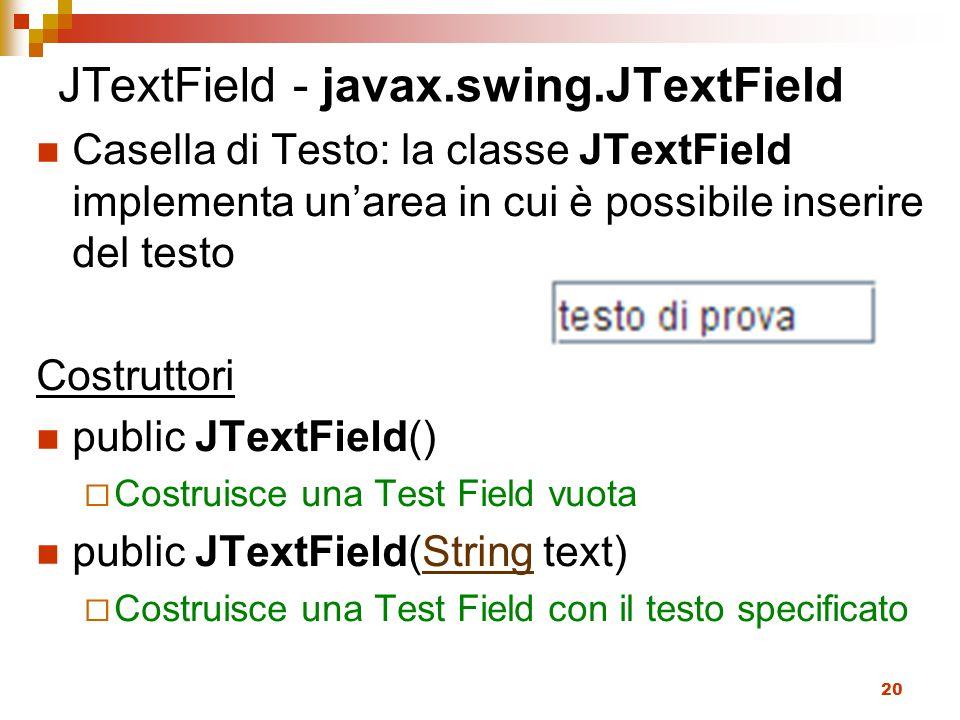 JTextField - javax.swing.JTextField