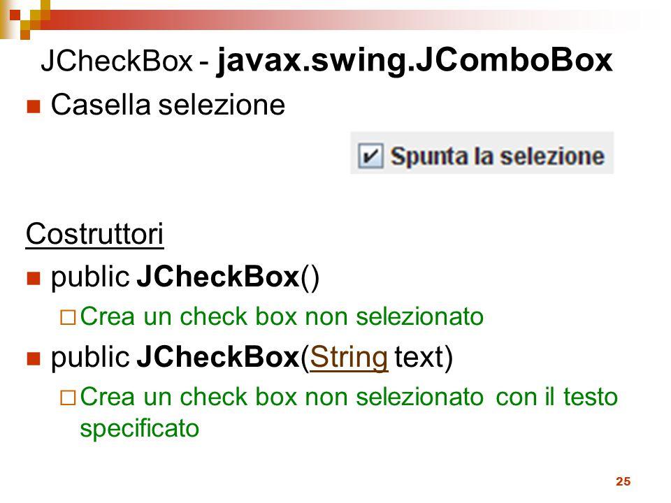 JCheckBox - javax.swing.JComboBox