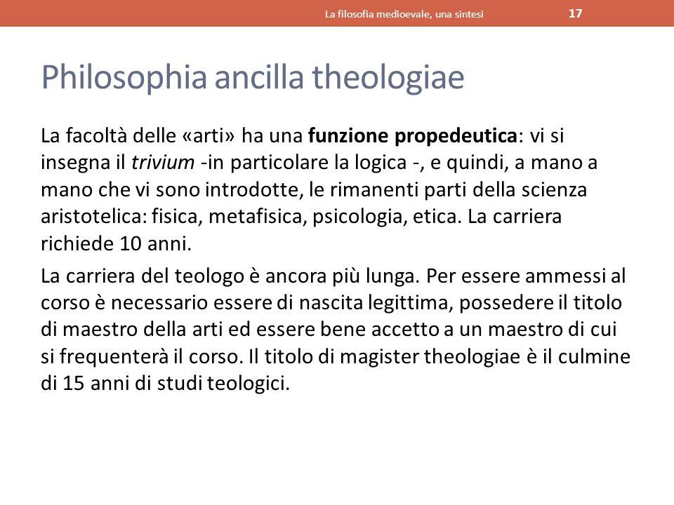 Philosophia ancilla theologiae