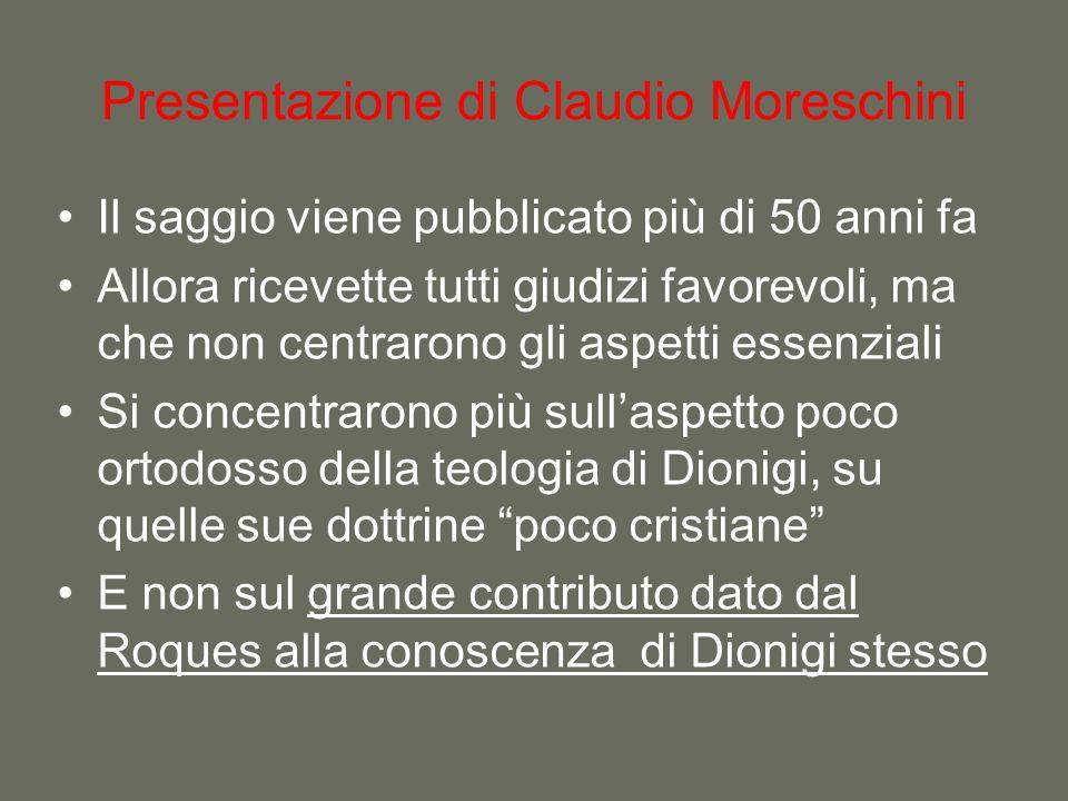Presentazione di Claudio Moreschini