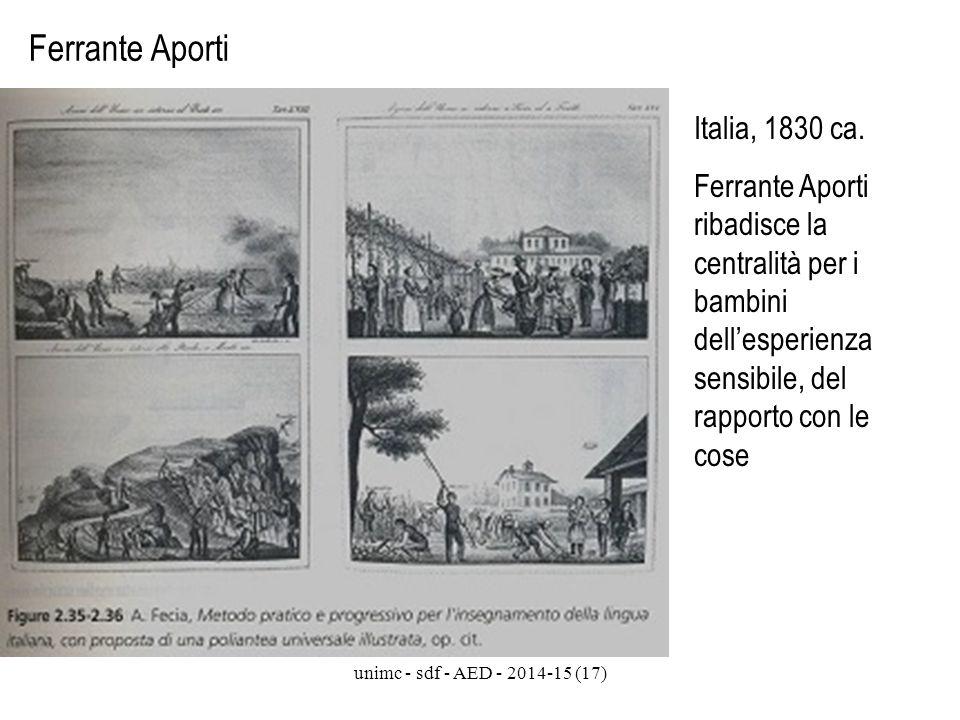 Ferrante Aporti Italia, 1830 ca.
