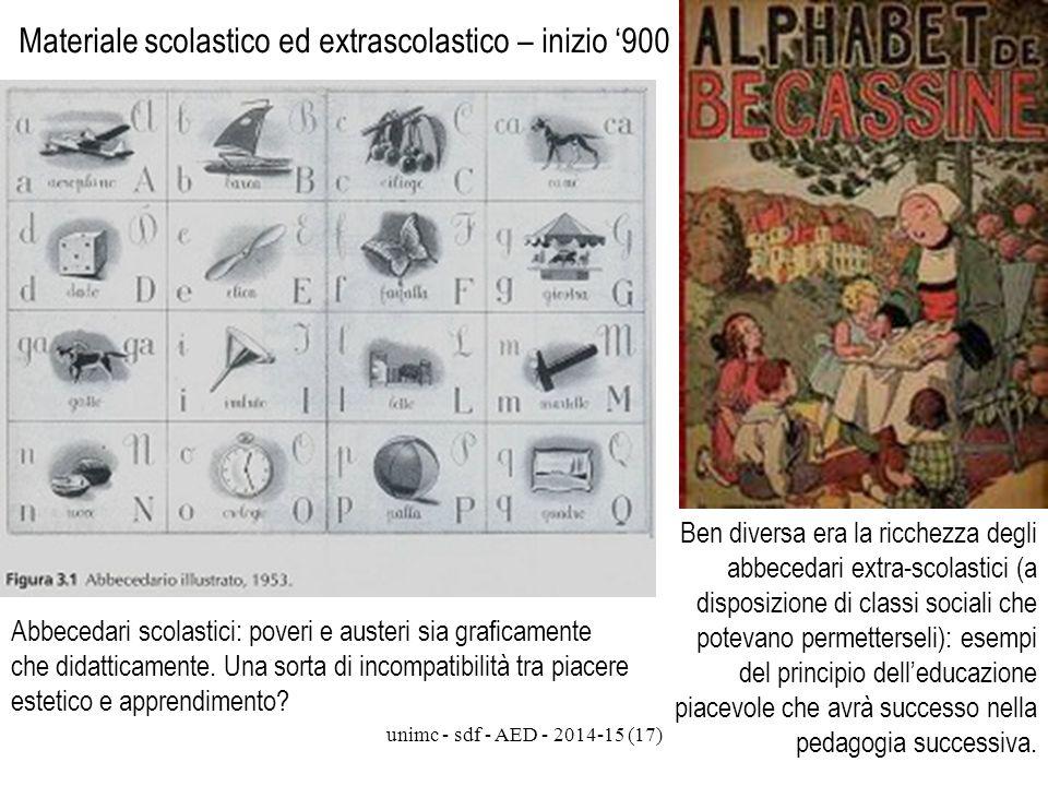 Materiale scolastico ed extrascolastico – inizio '900