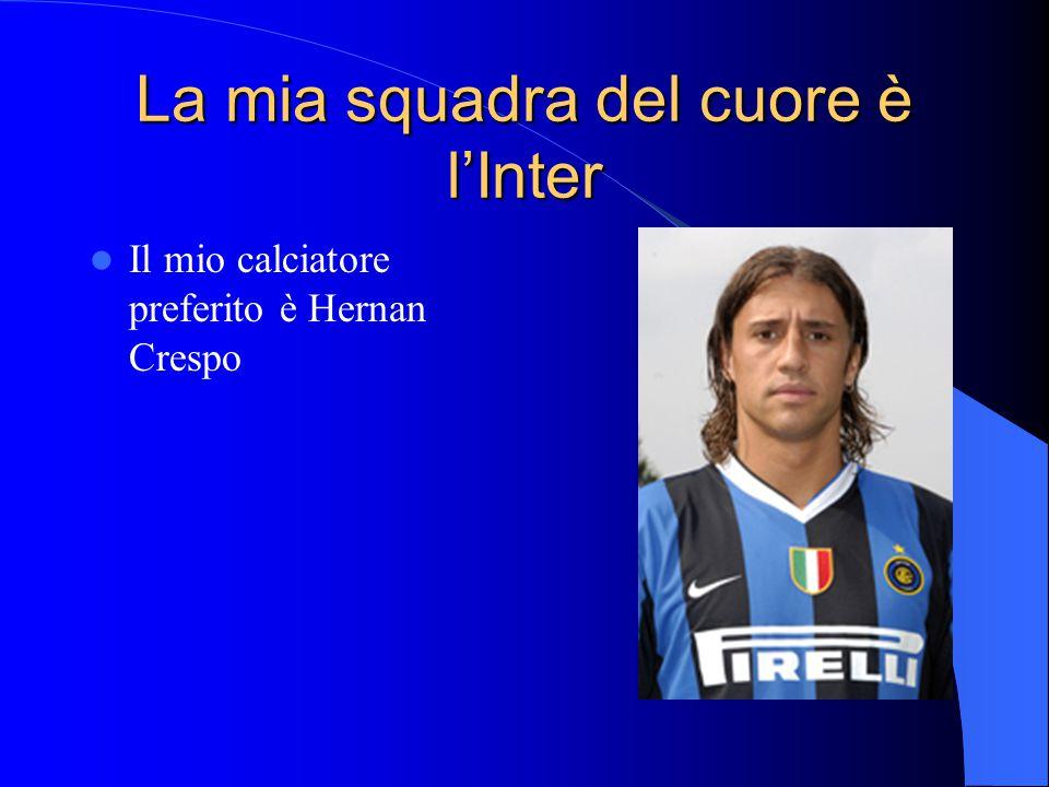 La mia squadra del cuore è l'Inter