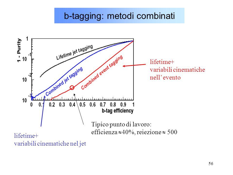 b-tagging: metodi combinati