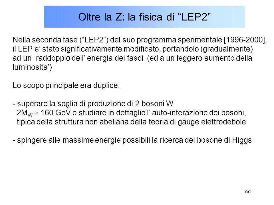 Oltre la Z: la fisica di LEP2