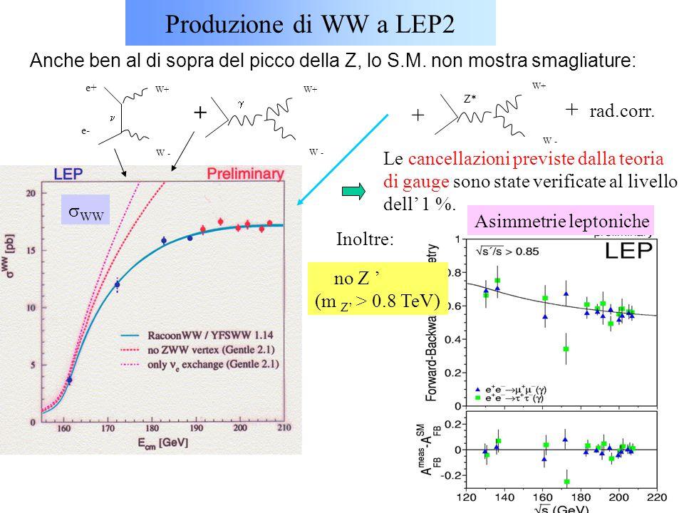 Produzione di WW a LEP2 + rad.corr. + +