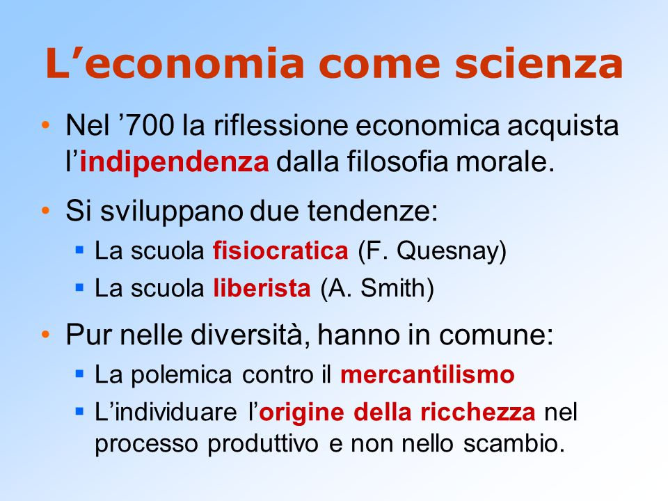 L'economia come scienza