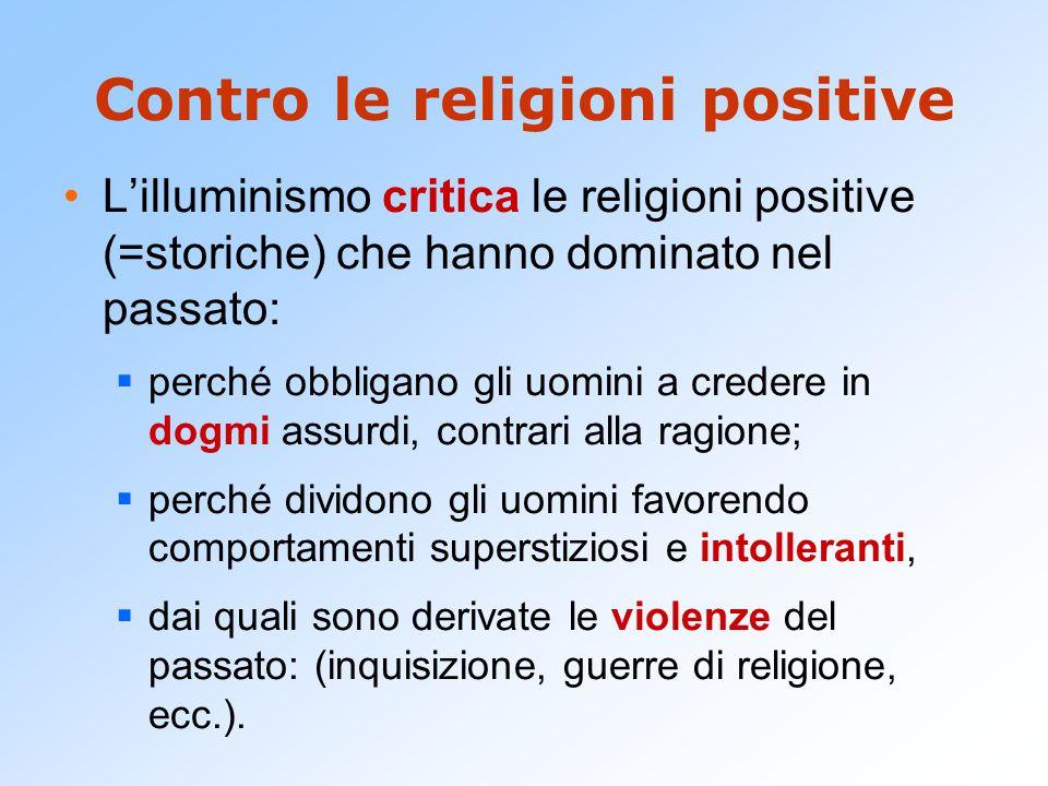 Contro le religioni positive