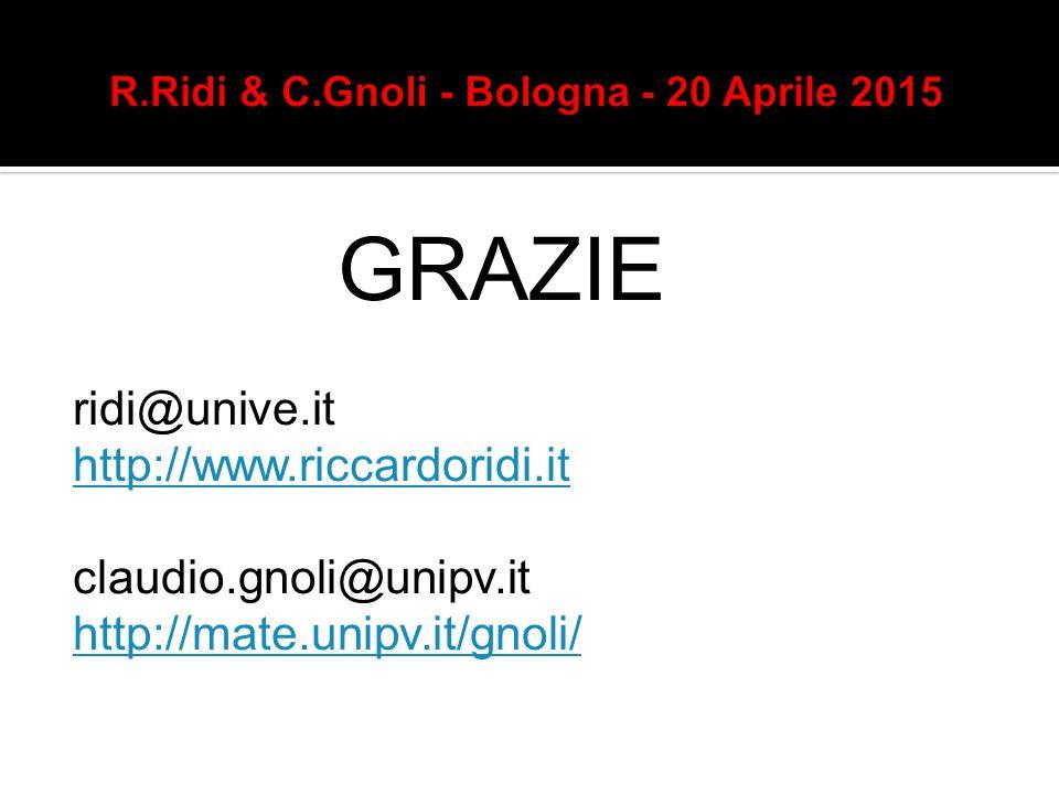 R.Ridi & C.Gnoli - Bologna - 20 Aprile 2015