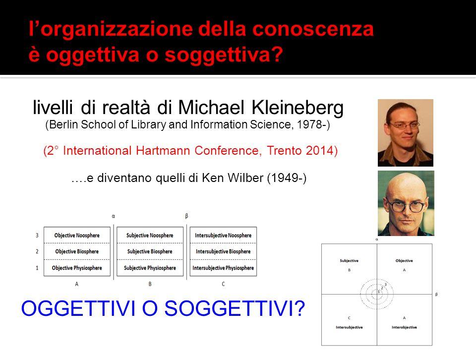 l'organizzazione della conoscenza è oggettiva o soggettiva
