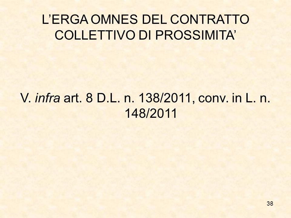 L'ERGA OMNES DEL CONTRATTO COLLETTIVO DI PROSSIMITA'