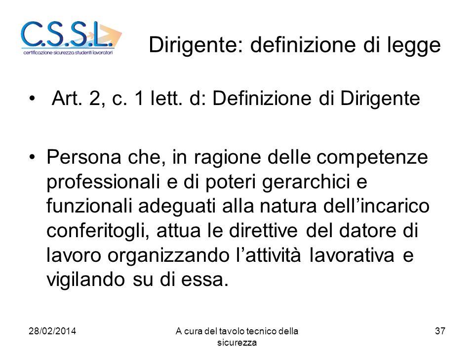 Dirigente: definizione di legge