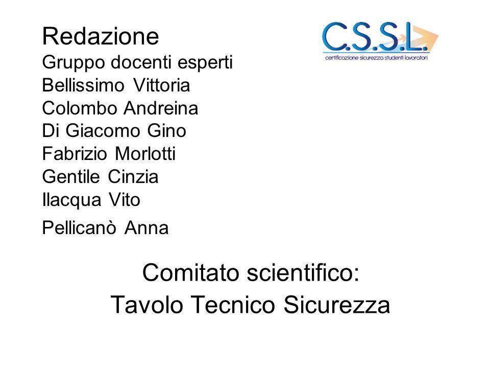 Comitato scientifico: Tavolo Tecnico Sicurezza