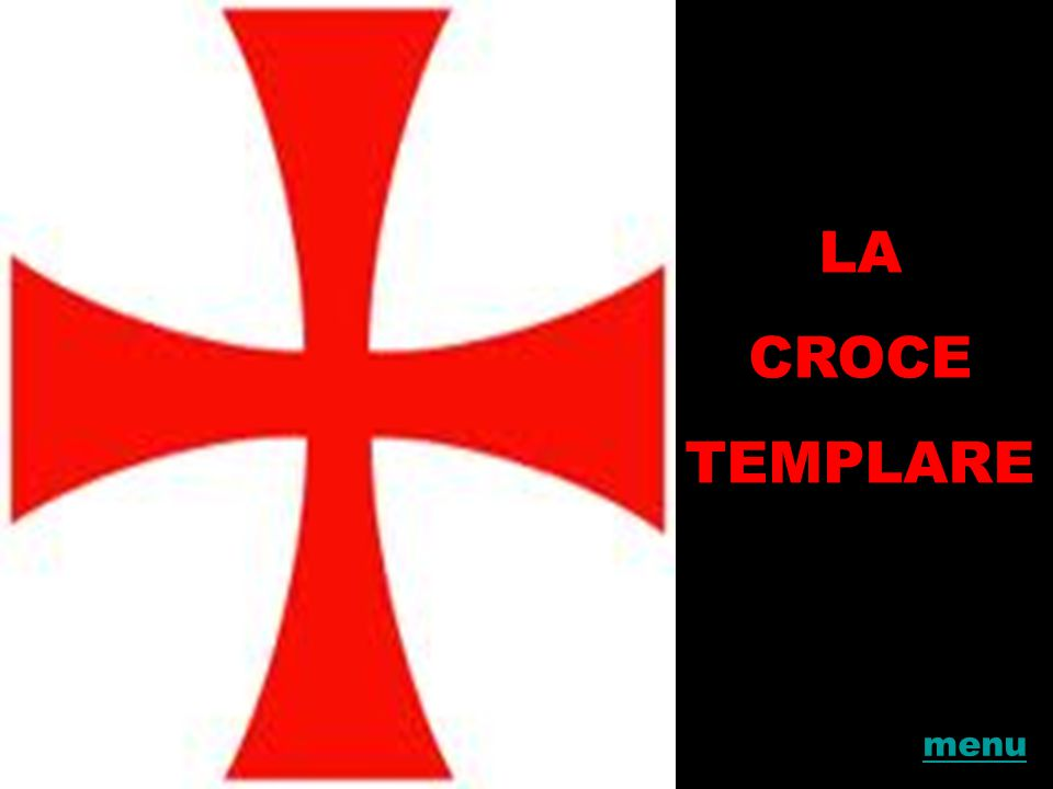 LA CROCE TEMPLARE menu