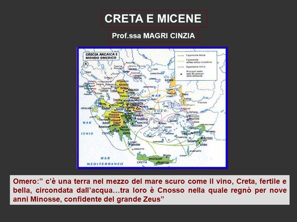 CRETA E MICENE Prof.ssa MAGRI CINZIA
