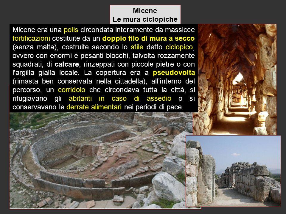 Micene Le mura ciclopiche.