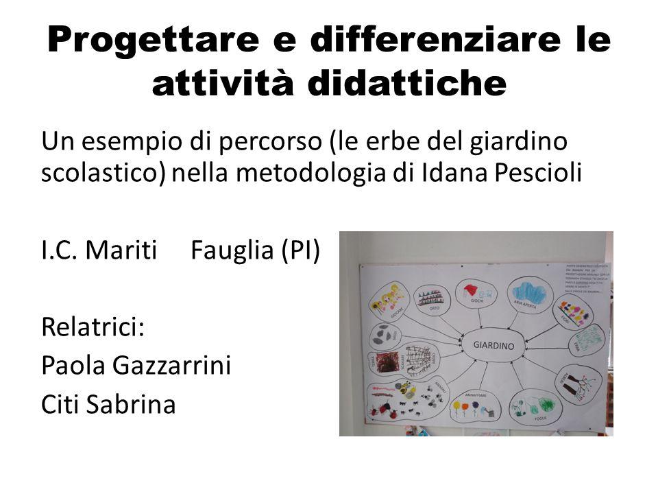 Progettare e differenziare le attività didattiche
